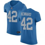 Wholesale Cheap Nike Lions #42 Devon Kennard Blue Throwback Men's Stitched NFL Vapor Untouchable Elite Jersey