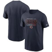 Wholesale Cheap Chicago Bears Nike Team Property Of Essential T-Shirt Navy
