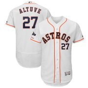 Wholesale Cheap Houston Astros #27 Jose Altuve Majestic 2019 Postseason Authentic Flex Base Player Jersey White