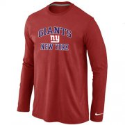 Wholesale Cheap Nike New York Giants Heart & Soul Long Sleeve T-Shirt Red