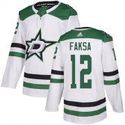 Cheap Adidas Stars #12 Radek Faksa White Road Authentic Stitched NHL Jersey