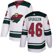 Wholesale Cheap Adidas Wild #46 Jared Spurgeon White Road Authentic Stitched Youth NHL Jersey
