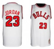 Wholesale Cheap Chicago Bulls #23 Michael Jordan 1984-1985 Hardwood Classics White Swingman Jersey