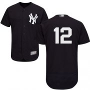 Wholesale Cheap Yankees #12 Troy Tulowitzki Navy Blue Flexbase Authentic Collection Stitched MLB Jersey