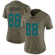 Wholesale Cheap Nike Jaguars #88 Tyler Eifert Olive Women's Stitched NFL Limited 2017 Salute To Service Jersey