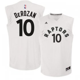 Wholesale Cheap Toronto Raptors 10 DeMar DeRozan White Fashion Replica Jersey