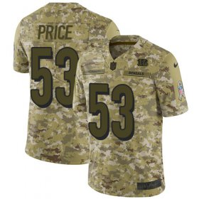 Wholesale Cheap Nike Bengals #53 Billy Price Camo Youth Stitched NFL Limited 2018 Salute to Service Jersey