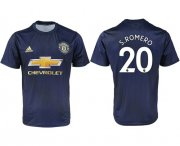 Wholesale Cheap Manchester United #20 S.Romero Away Soccer Club Jersey