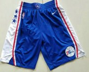 Wholesale Cheap Nike Philadelphia 76ers Blue Swingman Shorts