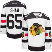 Wholesale Cheap Blackhawks #65 Andrew Shaw White 2016 Stadium Series Stitched Youth NHL Jersey