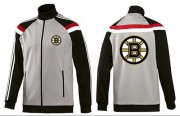 Wholesale Cheap NHL Boston Bruins Zip Jackets Grey