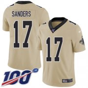Wholesale Cheap Nike Saints #17 Emmanuel Sanders Gold Youth Stitched NFL Limited Inverted Legend 100th Season Jersey