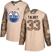 Wholesale Cheap Adidas Oilers #33 Cam Talbot Camo Authentic 2017 Veterans Day Stitched Youth NHL Jersey