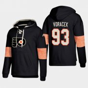 Wholesale Cheap Philadelphia Flyers #93 Jakub Voracek Black adidas Lace-Up Pullover Hoodie