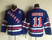 Wholesale Cheap Rangers #11 Mark Messier Blue CCM Throwback Stitched Youth NHL Jersey