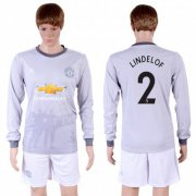 Wholesale Cheap Manchester United #2 Lindelof Sec Away Long Sleeves Soccer Club Jersey