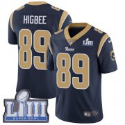 Wholesale Cheap Nike Rams #89 Tyler Higbee Navy Blue Team Color Super Bowl LIII Bound Men's Stitched NFL Vapor Untouchable Limited Jersey