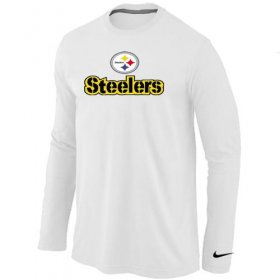 Wholesale Cheap Nike Pittsburgh Steelers Authentic Logo Long Sleeve T-Shirt White