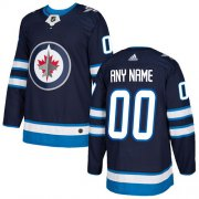 Wholesale Cheap Men's Adidas Jets Personalized Authentic Navy Blue Home NHL Jersey