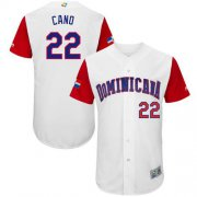 Wholesale Cheap Team Dominican Republic #22 Robinson Cano White 2017 World MLB Classic Authentic Stitched MLB Jersey