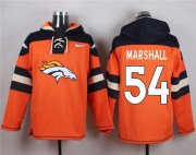 Wholesale Cheap Denver Broncos #54 Brandon Marshall Orange Player Pullover NFL Hoodie
