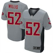 Wholesale Cheap Nike 49ers #52 Patrick Willis Grey Shadow Youth Stitched NFL Elite Jersey