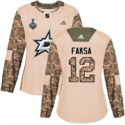 Cheap Adidas Stars #12 Radek Faksa Camo Authentic 2017 Veterans Day Women's 2020 Stanley Cup Final Stitched NHL Jersey