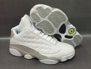 Wholesale Cheap Air Jordan 13 Low White Cat White/Metallic Silver