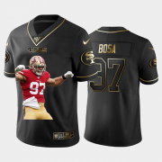 Cheap San Francisco 49ers #97 Nick Bosa Nike Team Hero 1 Vapor Limited NFL 100 Jersey Black Golden