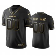 Wholesale Cheap Nike Cowboys Custom Black Golden Limited Edition Stitched NFL Jersey
