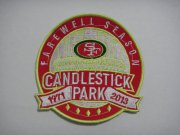 Wholesale Cheap Stitched NFL San Francisco 49ers Candlestick Park Farewell Season Patch