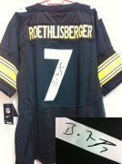 Wholesale Cheap Nike Steelers #7 Ben Roethlisberger Black Team Color Men's Stitched NFL Elite Autographed Jersey