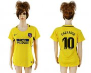 Wholesale Cheap Women's Atletico Madrid #10 Carrasco Away Soccer Club Jersey