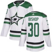Wholesale Cheap Adidas Stars #30 Ben Bishop White Road Authentic Stitched NHL Jersey