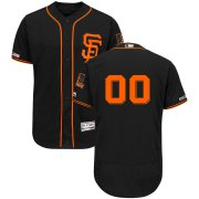 Wholesale Cheap San Francisco Giants Majestic Alternate Flex Base Authentic Collection Custom Jersey Black