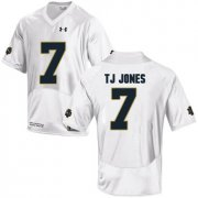 Wholesale Cheap Notre Dame Fighting Irish 7 TJ Jones White College Football Jersey