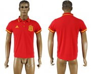Wholesale Cheap Spain Blank Red Soccer Country Polo