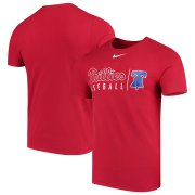 Wholesale Cheap Philadelphia Phillies Nike MLB Practice T-Shirt Red