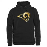 Wholesale Cheap Men's Los Angeles Rams Pro Line Black Gold Collection Pullover Hoodie