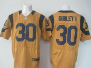 Wholesale Cheap Nike Rams #30 Todd Gurley II Gold Men's Stitched NFL Elite Rush Jersey