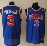 Wholesale Cheap Philadelphia 76ers #3 Allen Iverson Blue 10TH Swingman Jersey