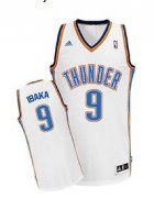 Wholesale Cheap Oklahoma City Thunder #9 Serge Ibaka White Swingman Jersey