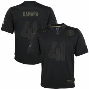 Cheap New Orleans Saints #41 Alvin Kamara Nike Youth 2020 Salute to Service Game Jersey Black