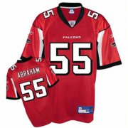 Wholesale Cheap Falcons #55 John Abraham Red Stitched NFL Jersey