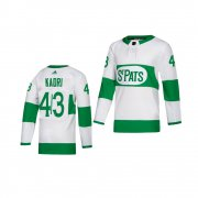 Wholesale Cheap Adidas Maple Leafs #43 Nazem Kadri White 2019 St. Patrick's Day Authentic Player Stitched Youth NHL Jersey