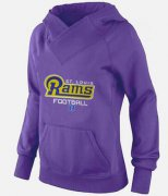 Wholesale Cheap Women's Los Angeles Rams Big & Tall Critical Victory Pullover Hoodie Purple