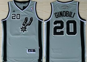 Wholesale Cheap San Antonio Spurs #20 Manu Ginobili Revolution 30 Swingman Gray Jersey