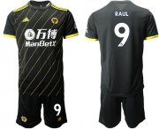 Wholesale Cheap Wolves #9 Raul Away Soccer Club Jersey