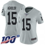 Wholesale Cheap Nike Raiders #15 Nelson Agholor Silver Women's Stitched NFL Limited Inverted Legend 100th Season Jersey