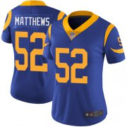 Wholesale Cheap Nike Rams #52 Clay Matthews Royal Blue Alternate Women's Stitched NFL Vapor Untouchable Limited Jersey